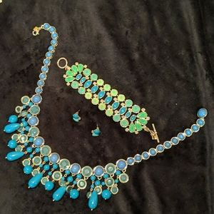 J.Crew Matching Set Necklace Earrings and Bracelet